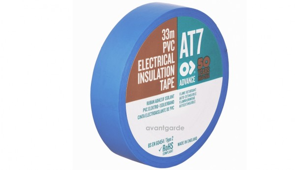 AT 7, PVC Tape, 19x33, blau