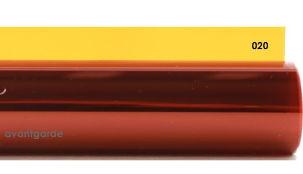 Rosco E-COLOUR 020, Medium Amber, Bogen / Sheet