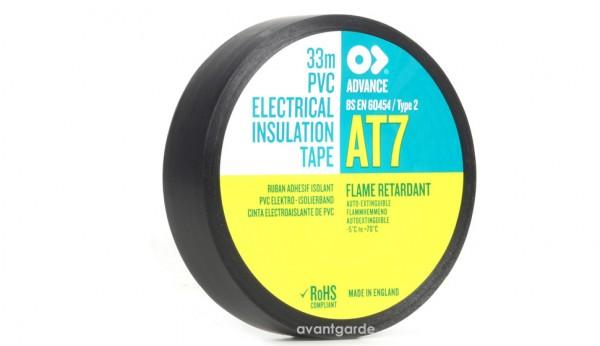 AT 7, PVC Tape, 19x33, schwarz