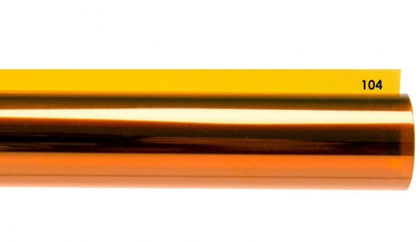 Rosco E-COLOUR 104, Deep Amber, Rolle 7,62m x 1,22m