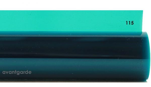 Rosco E-COLOUR 115, Peacock Blue, Bogen / Sheet